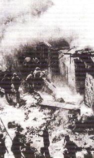 1938'de Yahudi terör örgütlerinin  düzenlediği  hayfa şehrindeki  bir binaya büyük hasar veren sabotaj