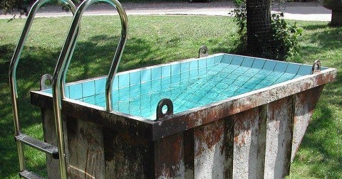 Le container chtite piscine low budget pool for Budget piscine