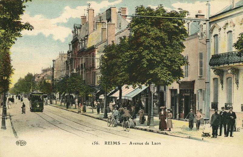 amicarte 51 reims reims avenue de laon dans les 233 es 1910