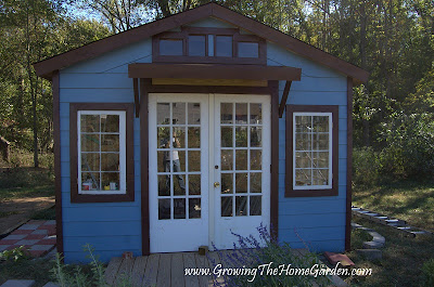 DIY backyard potting shed