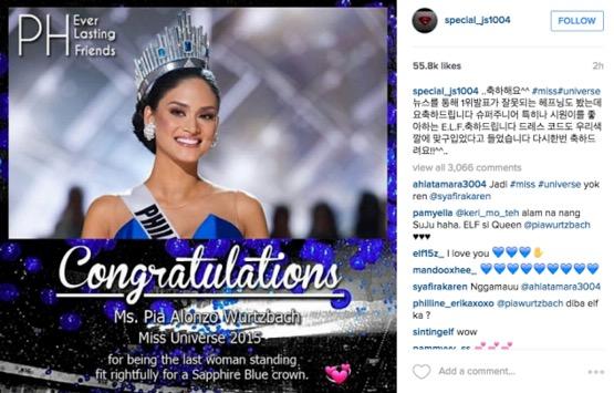 Miss Universe 2015 Isteri Penyanyi Kpop Super Junior