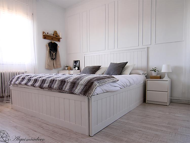 Diy mi nueva cama hecha con friso de pared alquimia deco - Puff cama leroy merlin ...