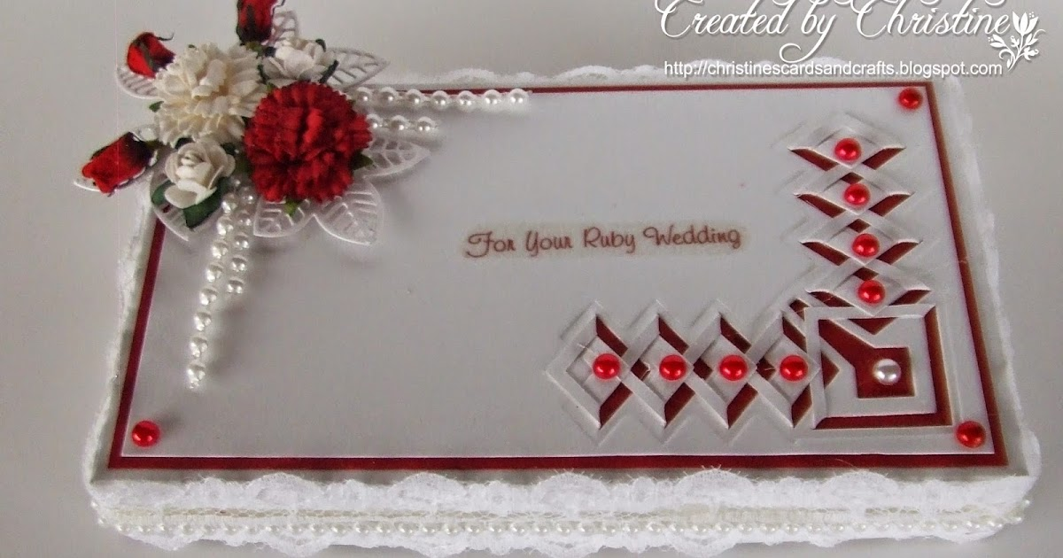 Ruby Wedding Gift Box : Christines Cards and Crafts: Ruby Wedding Gift Box and Card