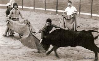 Candelario Salamanca vaquillas en las fiestas 1972
