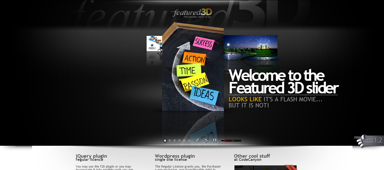 3D Content Slider WordPress Plugin