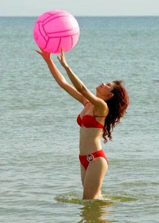 Hoa hau viet nam mac bikini toa sac o bai bien 18