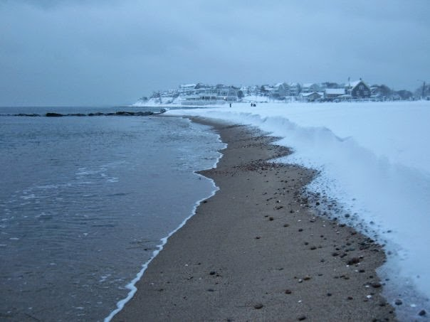 Falmouth Heights Beach under 2 feet of snow