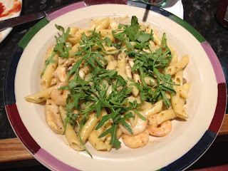 prawn and chicken alfredo