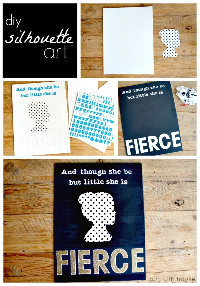 diy silhouette art