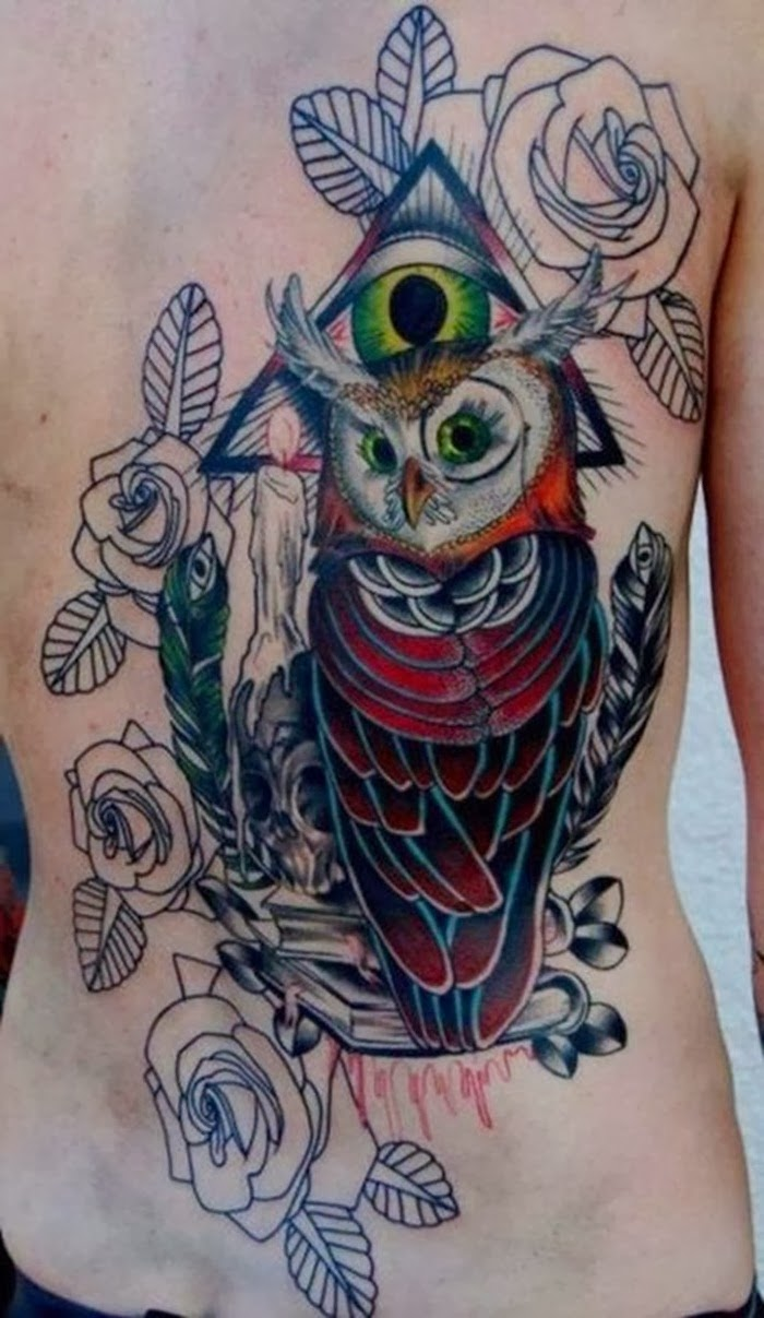owl tattoo designs for men