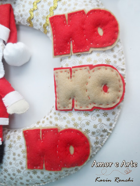 Guirlanda de Natal - Papai Noel