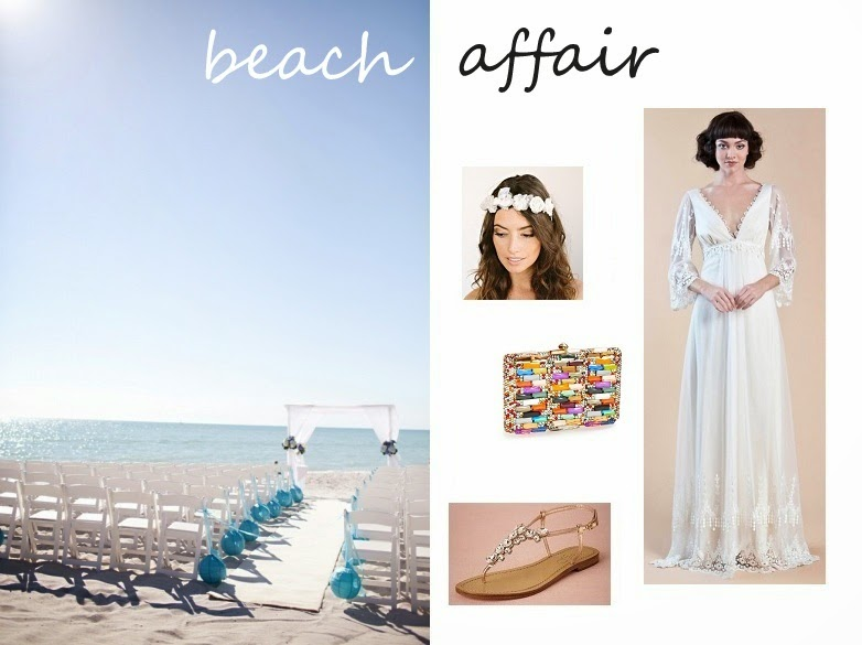 beach wedding tasha bonanza clutch bhldn sandals claire pettibone grace dress
