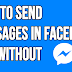 How to Send Messages in Facebook App without Messenger