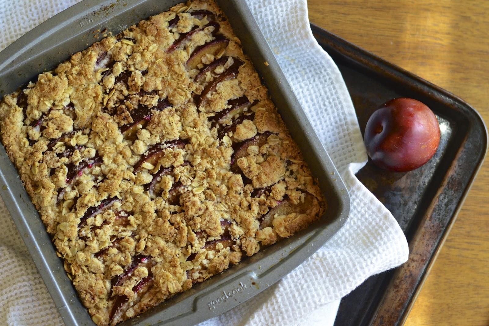 Gluten Free Oatmeal Plum Bars