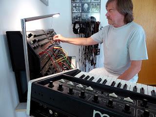 Peter Mergener dans son studio de Heidenburg / photo S. Mazars
