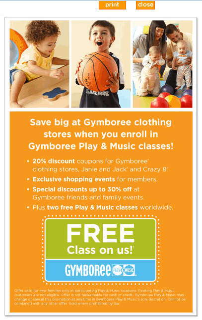 Gymboree coupon code 20 off