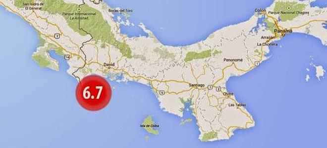 SISMO DE 6,7 GRADOS EN PACIFICO DE PANAMA