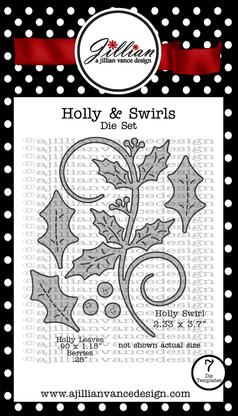Holly & Swirls Die Set