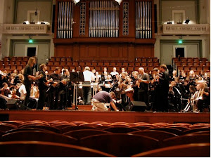 Rehearsing on Mandolin with the Nashville Symphony