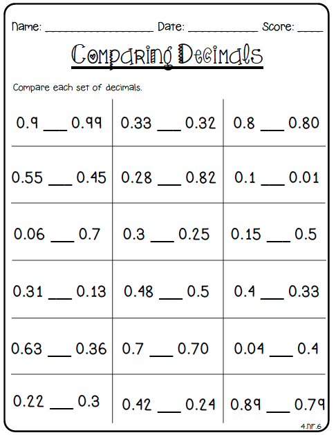 Printables Fourth Grade Common Core Math Worksheets 80 fraction printables these address all of the 4th grade common core standards related to fractions and decimals