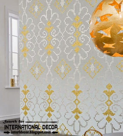 fashionable wall tiles,wall tiles patterns, white wall tiles gold and grey