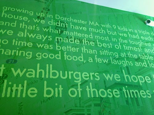 Wahlburgers Mission Statement Decor