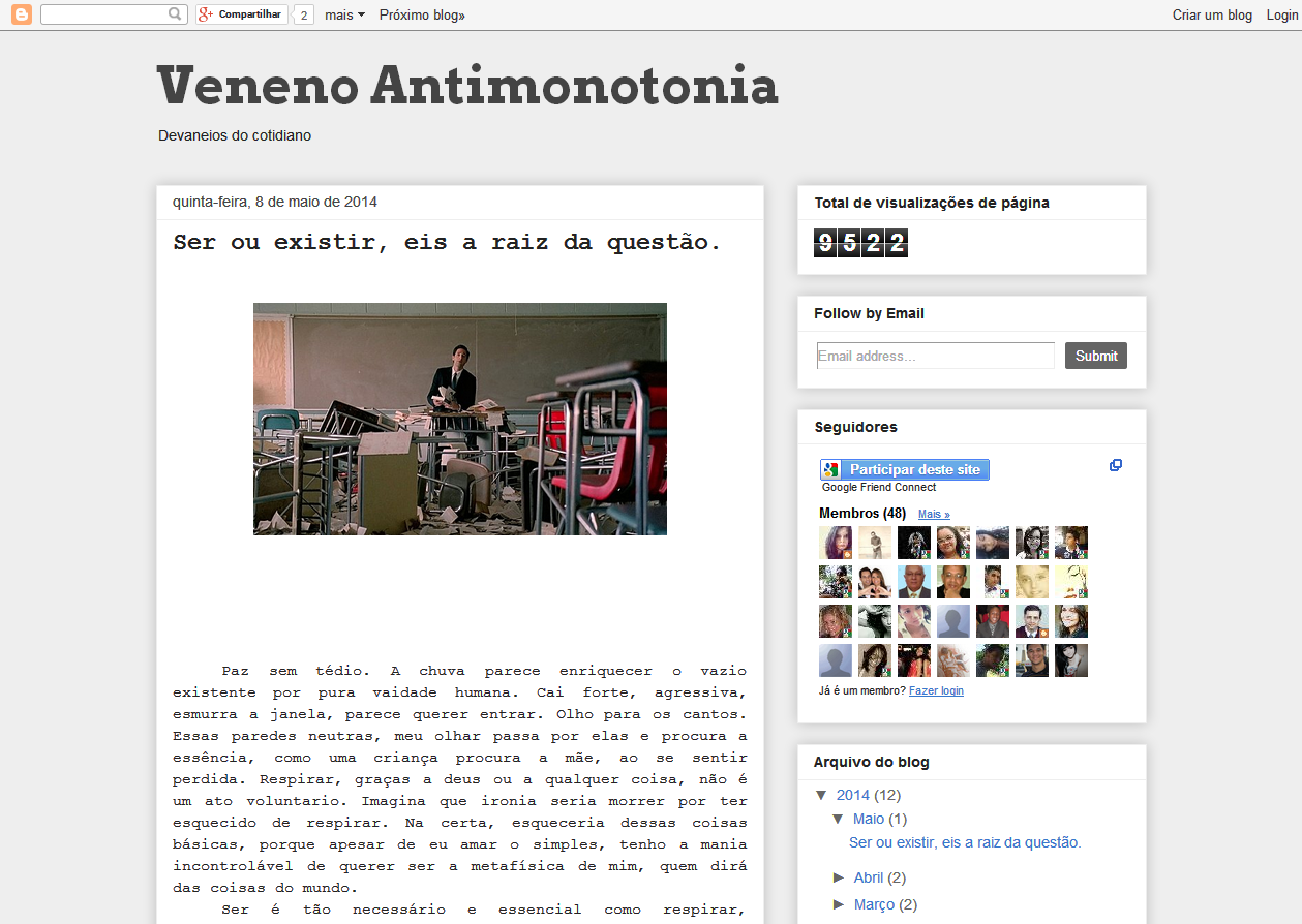 Blog - VENENO ANTIMONOTONIA