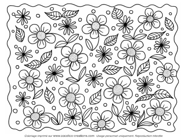 Cocolico creations coloriages - Coloriage fleurs ...