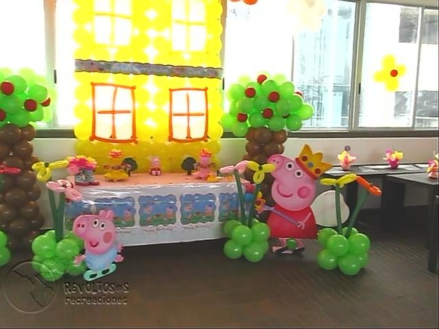 decoracion fiesta peppa pig medellin fiestas infantiles