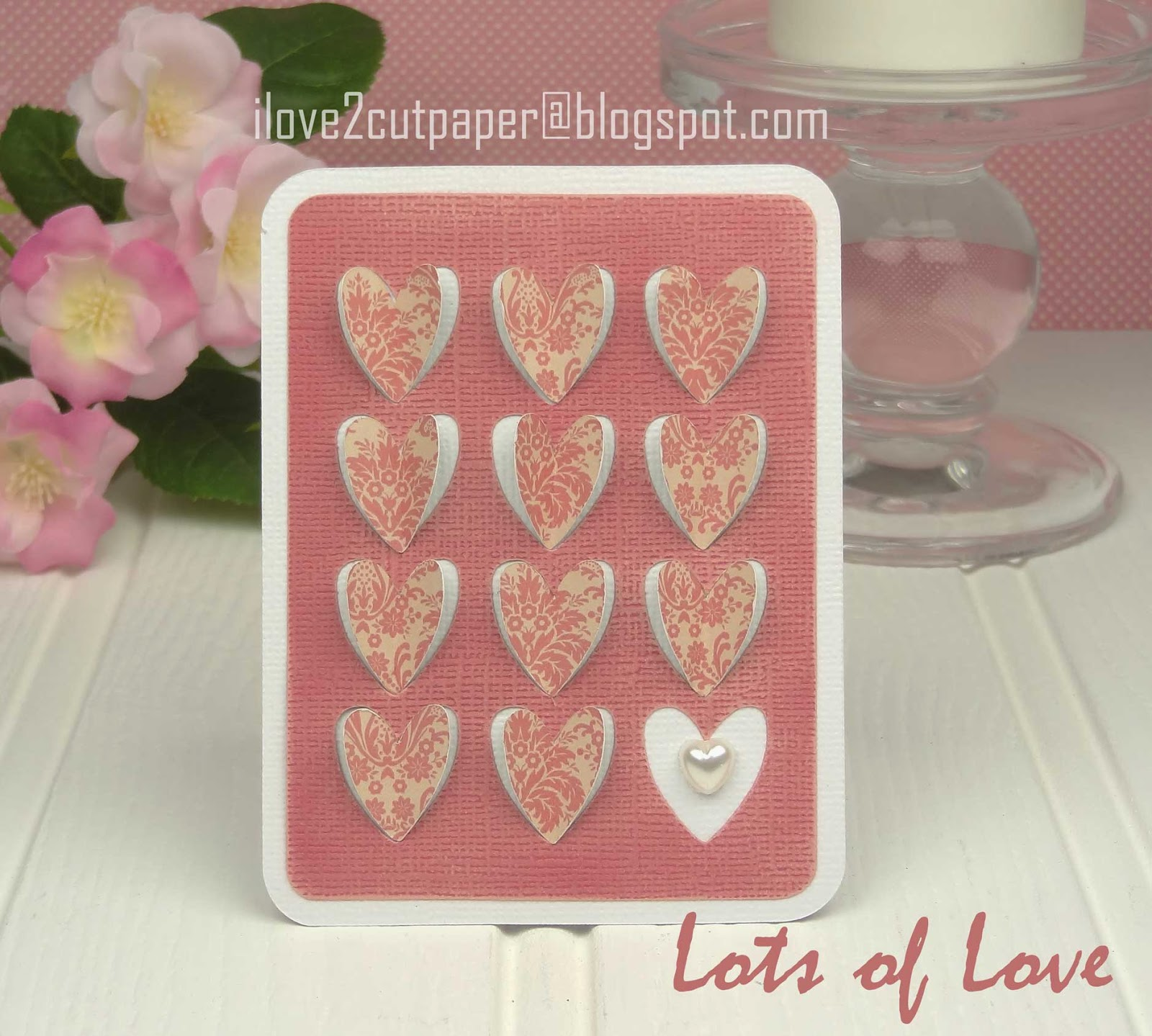 Cut out hearts card using svg files
