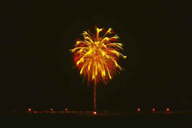 fireworks, New Year's Eve,island