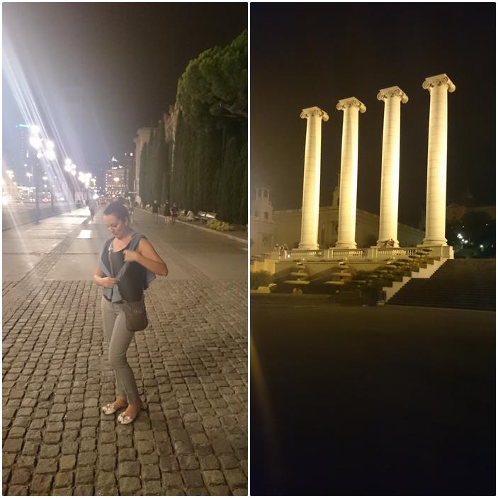 Barcelona,pokaz fontann w Barcelonie,piękne fontanny w Barcelonie,placa Cataluna,placa Espana