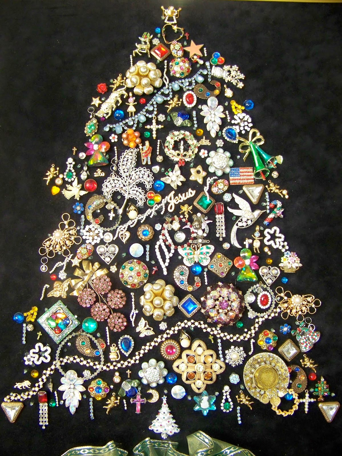 christmas trees made out of book and magazines