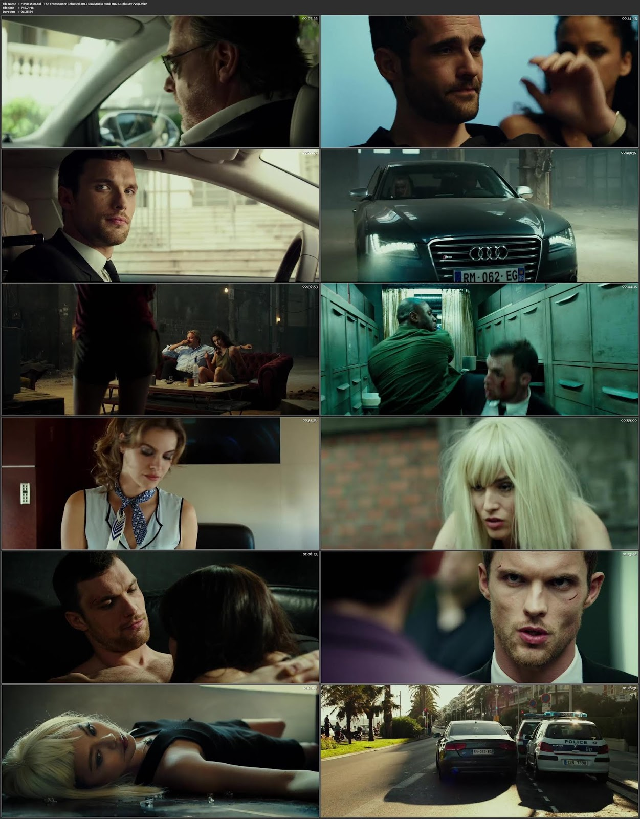The Transporter Refueled 2015 Dual Audio Hindi ENG 5.1 BluRay 720p