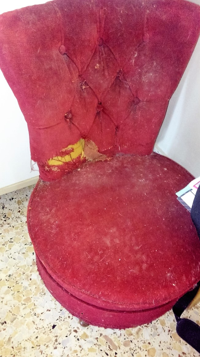 El blog de la restauradora tapizado de una butaca descalzadora - Como tapizar una descalzadora ...