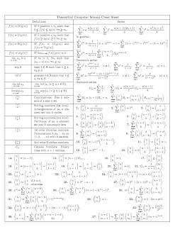 Theoretical Computer Science Cheat Sheet Mediafire ebook