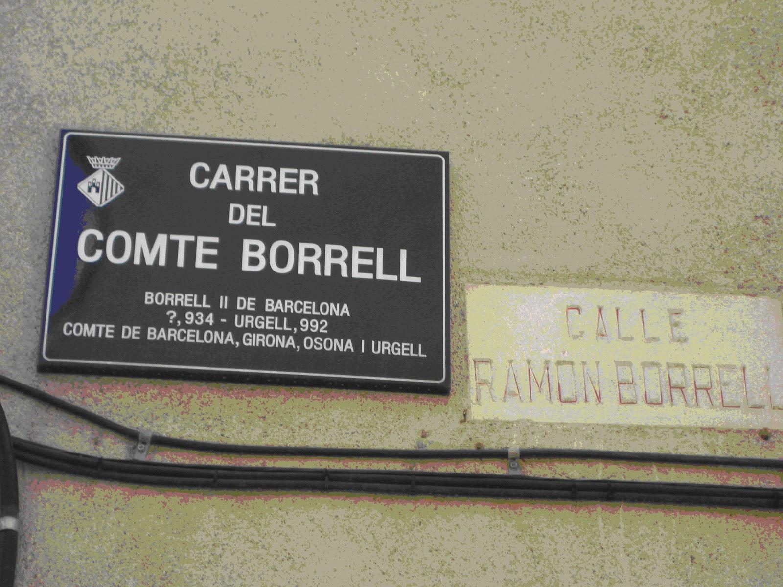 El Carrer Del Comte Borrell II O De Ramon