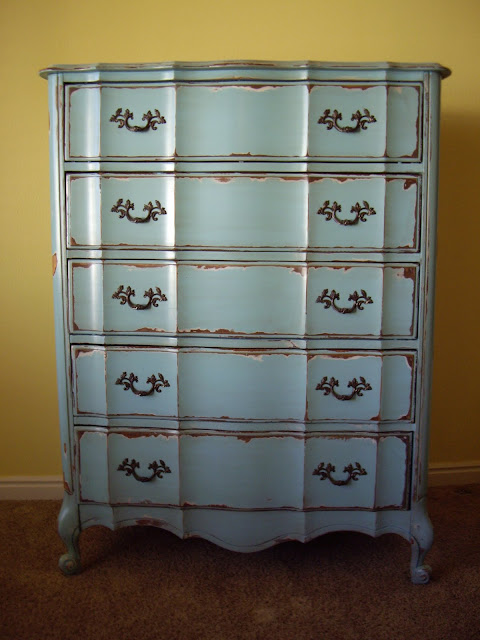 A Brush Of Whimsy Turquoise Tall Boy And Nightstand
