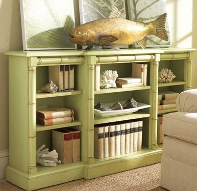 tropical bamboo style bookcase