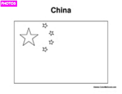 China Flag Coloring Page | China Flag