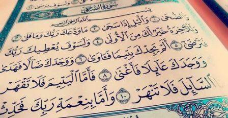 Tafsir Al Quran Tafsir Surat Adh Dhuha Ayat 1 11 Tafsir