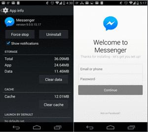 cara log out dari facebook di Android
