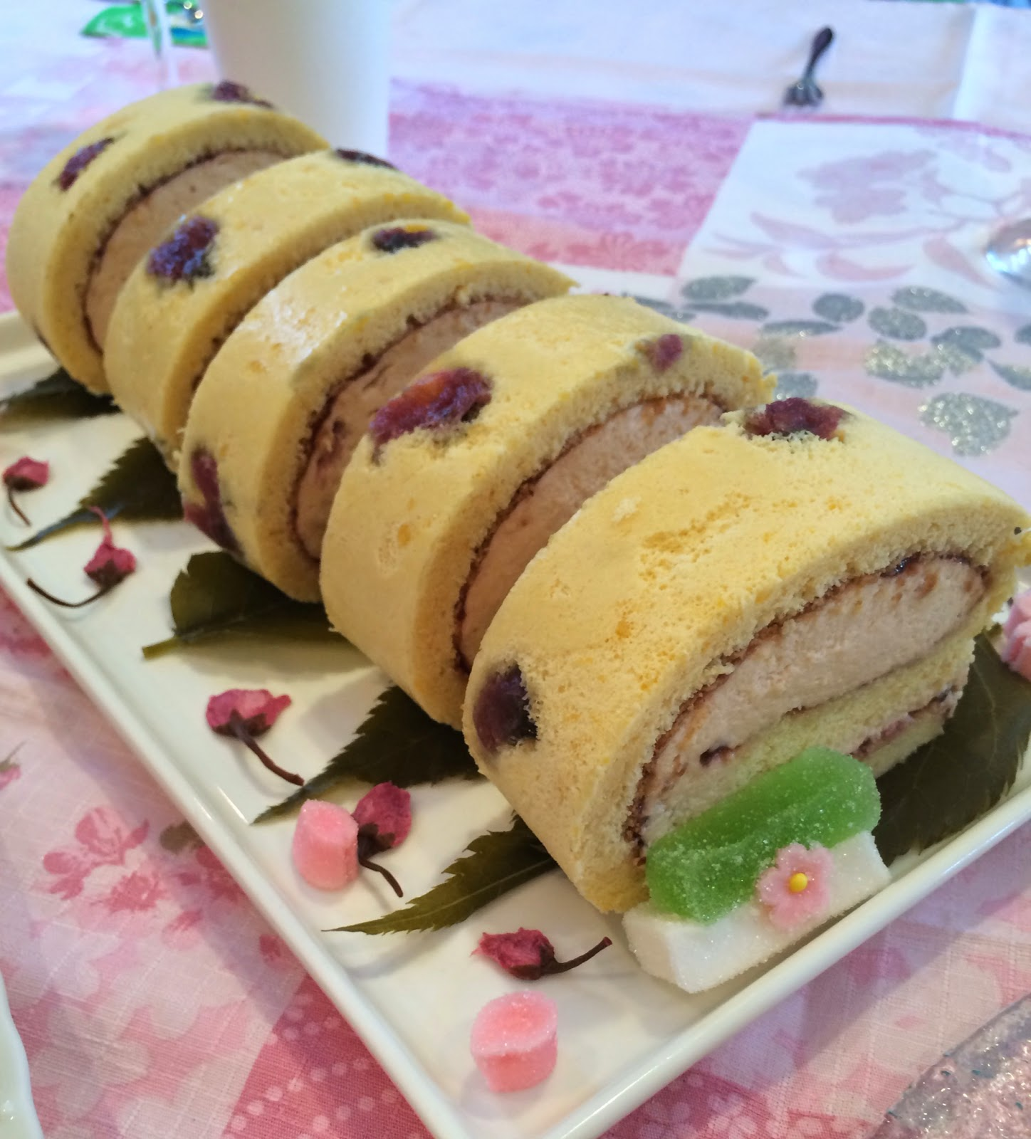 Cherry Blossom Cake Roll Recipe