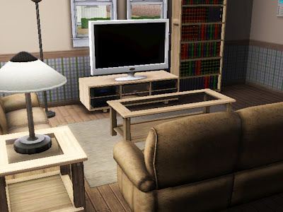 Sims 3 Republic Feather House Living room