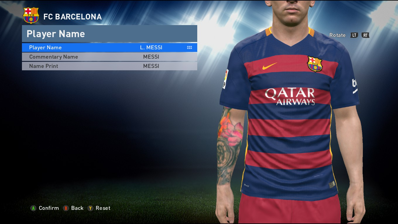 PES 2016 3DM Crack 1.05.00 suport tattoo pack 400 by Aliefan Ifan