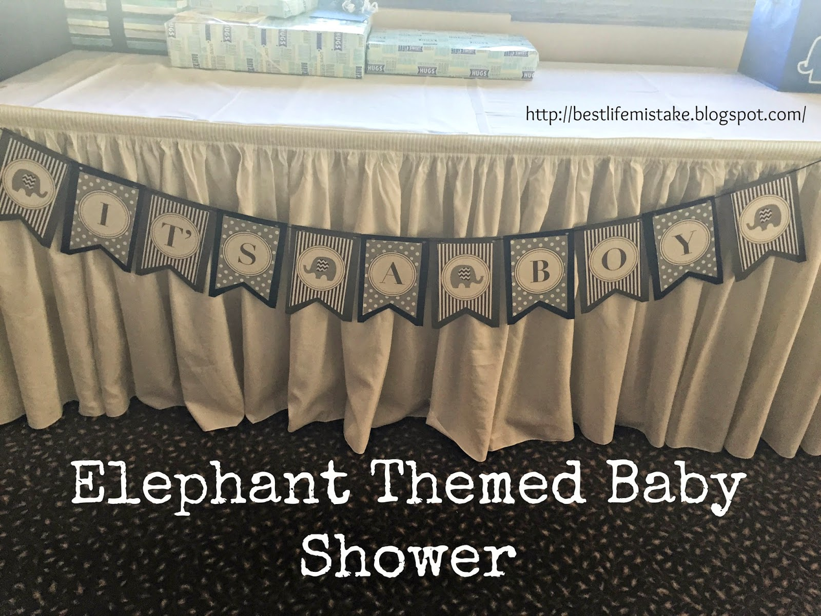 of the best things in life are mistakes elephant themed baby shower