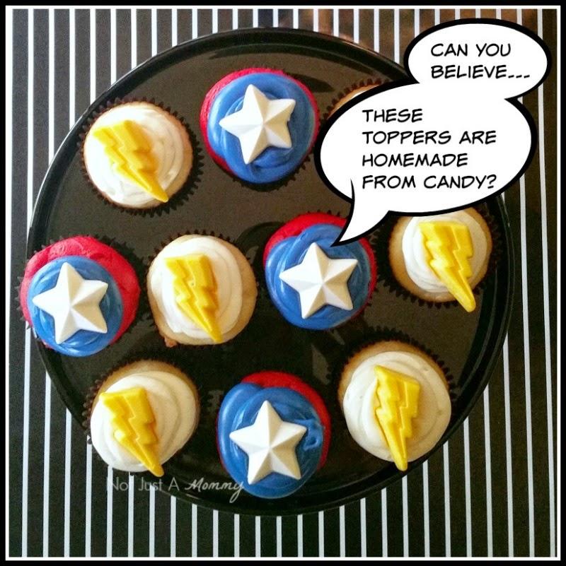 MARVEL Avengers: Age of Ultron Movie Marathon Party cupcakes