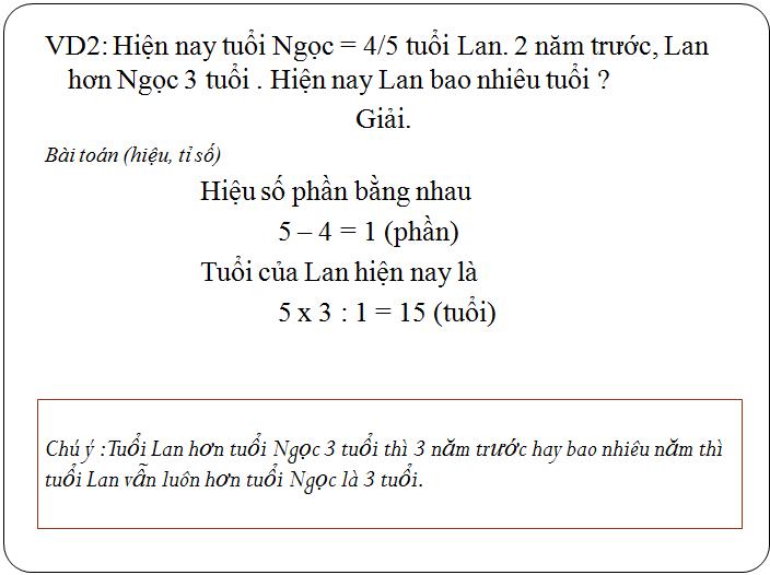 Các bài tập về tìm hai hay nhiều số khi biết tổng, hiệu và tỉ số - toán lớp 5(19)