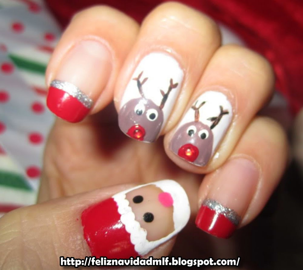 Feliz navidad decoraciones de u as for Decoracion de unas para navidad