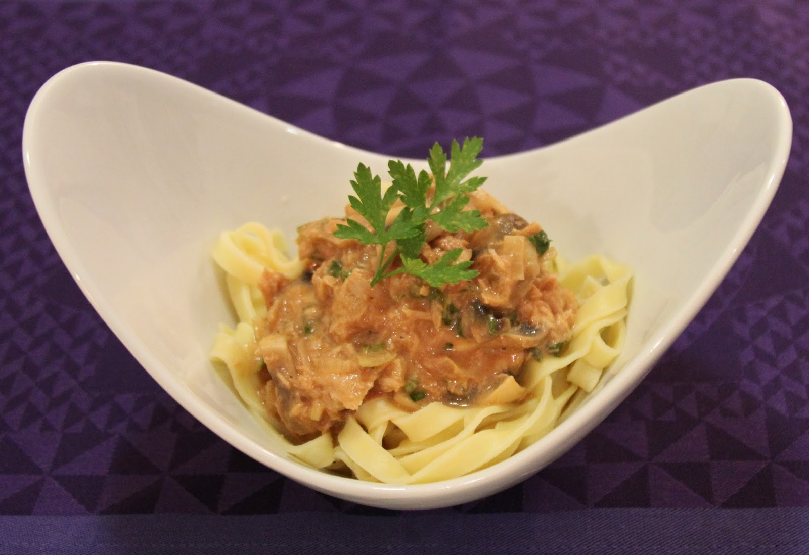 Recipe for tuna and mushroom pasta